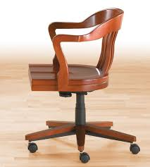 classic office chair. Classic Office Armchair / Wooden Leather Adjustable-height BANK OF ENGLAND Gunlocke Chair N