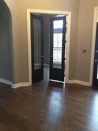 White Door Black Trim Our House Dark Floors Grey Walls Black Doors White Trim