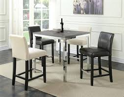 chrome table and chairs 5 piece counter height table set in weathered grey and chrome finish