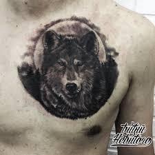тату волк на груди тату волк тату на груди