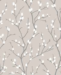 Taupe Pussy Willow Wallpaper by Superfresco Easy 33 278