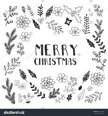 merry christmas card black and white. Wonderful White Black And White Christmas Greeting Card Template Vector Merry Christmas  Winter Holiday Design With Card And White K