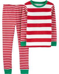 2 Piece Striped Snug Fit Cotton Pjs Oshkosh Com