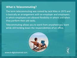 Telecommute Job Advantages Of Telecommute Job
