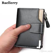 baellerry brand wallet men leather men wallets purse short male clutch leather wallet mens money bag quality guarantee red wallet leather accessories from
