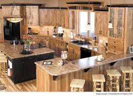 Rustic Granite Countertops Kitchen Modern Kitchen Style With Wooden Wall Cabinet Black