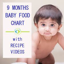 Food Chart For 9 Months Indian Baby 9 Months Indian Baby Food Chart With Recipe Videos Tots