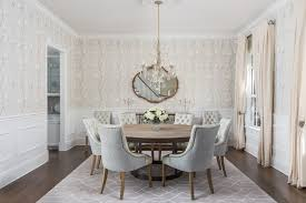 tampa off white armchairs with wooden standard height dining tables room traditional and elegant crystal chandelier