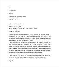 Cover Letter Sample For Teachers Nice Teaching Assistant Cover