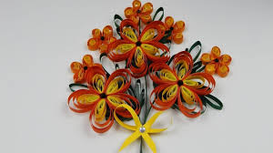 Paper Quilling Flower Bokeh How To Make A Quilling Flower Bouquet 2d Quilling Flowers Diy Tutorial Free Pattern