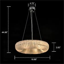 crystal halo chandelier modern contemporary lighting chrome finish floating pendant 19 wide com