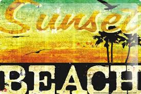 m a allen retro tin sign u s deco sunset beach los angeles la ca hollywood 20x30 cm large metal wall decoration vintage retro classic plaque in
