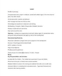 Objective For A Nanny Resume Nanny Resume Cover Letter Nanny Resume Objective Sample Fashion 73