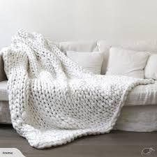 lareg warm handmade sofa chunky knitted blanket wool thick line yarn throw trade me