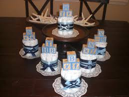 Blue And Gold Baby Shower Decorations Baby Shower Centerpiece Etsy