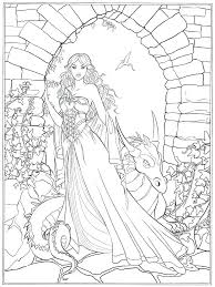 fantasy coloring pages for s amazing fairy printable