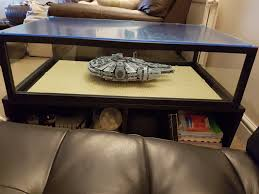 charming display case coffee table of 75192 ucs millennium falcon ideas stands supports