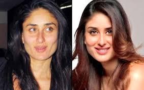 kareena with or withut makeup