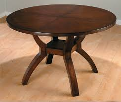 Dark Wood Round Extending Dining Table