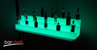 barchefs light up bar shelves help to increase alcohole s