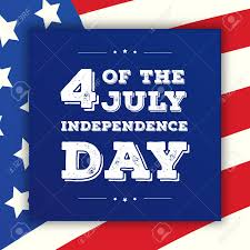 Fourth Of July Independence Day Greeting Card On American Flag