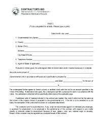 Bid Proposal Templates Gorgeous Construction Bid Proposal Template Contractor Sheet Forms Ele