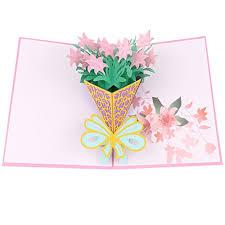 Bloomeet 3d Pop Up Greeting Cards Flowers Design Handmade