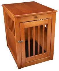 wooden contemporary dog crate end table ideas — modern home