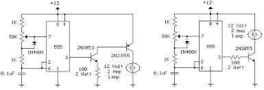 remote control light circuit diagram using timer remote 12 volt car lamp dimmer circuit design using 555 timer circuit on remote control light circuit