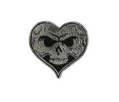 Heart <b>Skull Lapel Pin</b> - Black Fill - Accessories - Alexisonfire Online ...