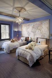 accdent wall this bedroom is warmed up by the fixture s soft glow such as the