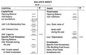 Sample Balance Sheet For Non Profit Organisation