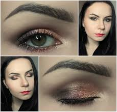 połyskujący makijaż paletą makeup revolution beyond flawless