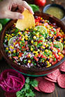 bean and salsa dip