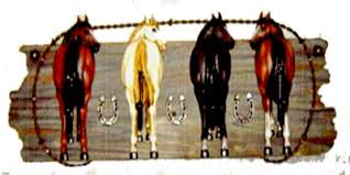 Horse Coat Rack Western Peddler Four Horses Coat Rack 86