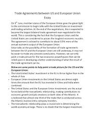 trade agreements between us and european union essay trade agreements between us and european union essay on 6th member states of the