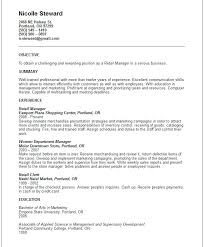 Summary For Resume Retail Sample Resume For Retail Manager Coachfederation