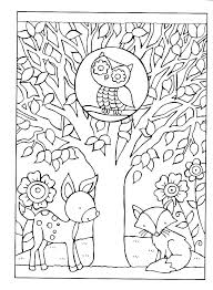 Fall Preschool Coloring Pages Free Printable Color Autumn For