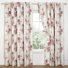 red fl eyelets excellent hydrangea pink print eyelet curtains