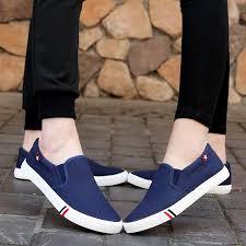 【<b>35-44</b>】<b>Unisex</b> trend canvas <b>shoes casual shoes</b> women loafers ...