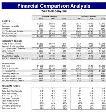 excel financial analysis template download financial comparison analysis