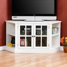 Corner Media Cabinetsth Doors Black Tv Glass Television - Corner ...