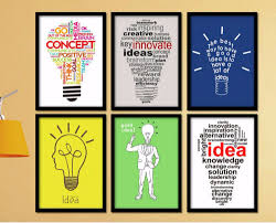 inspirational office decor. Creative Home Decor Art Painting On Canvas Inspirational Quotes Bulb Idea Wall Picture Poster For Office