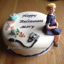 Cool Homemade Retirement Cake