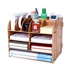 desk tidy.  Tidy Desk Organiser Lesfit Multifunctional Cool Modern Square Makeup Wooden  Stationary Tidy Compact Stylish Desktop Inside