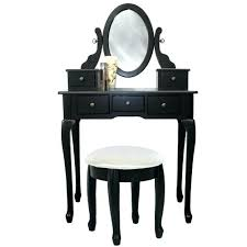 black vanity table black black makeup vanity table set w bench