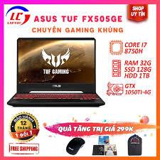 Giá T4: [Viền Mỏng-BH 12 Tháng] Asus TUF Gaming FX505GE Chip 12 Luồng Core  i7-8750H-VGA NVIDIA GTX 1050Ti- 4G, màn 15.6″ Full HD IPS, Asus fx505ge,  laptoplc