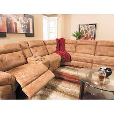 picture of wyatt 4pc power recline leather sectional