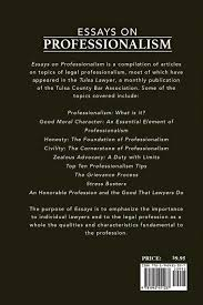 essays on professionalism frederick k slicker  essays on professionalism frederick k slicker 9781942451037 com books