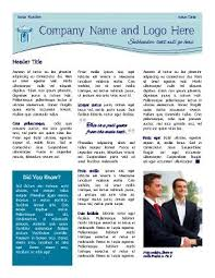 Three Column Newsletter Template Pin By Pageprodigy Easy Design Online On Newsletter Templates